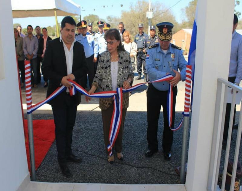 Inauguración del Puesto de Control Policíal en Villa Oliva