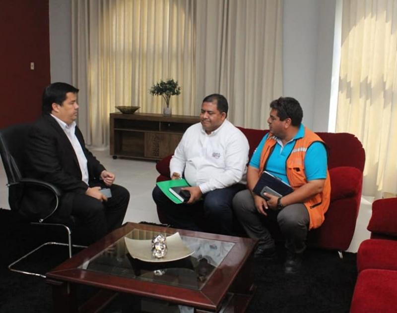 Técnico de la Secretaría de Emergencia Nacional se reunió con el Gobernador de Ñeembucú