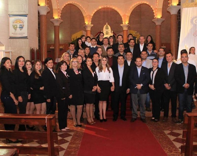 Participación de la Gobernación de Ñeembucú de la celebración litúrgica, en el segundo día del Novenario a la Virgen del Pilar