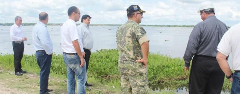 Inspección técnica de la defensa costera de Pilar