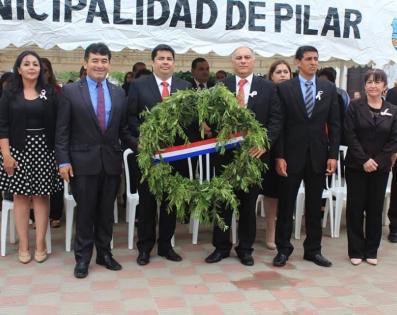 Inicionaje al Fundador de la ciudad de Pilar, ...
