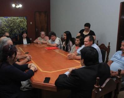 Reunión con integrantes y colaboradores del Grupo de Danzas de Adultos Mayores San Juan Pablo II